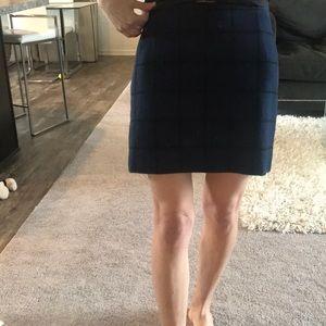 Madewell wool checkered mini skirt